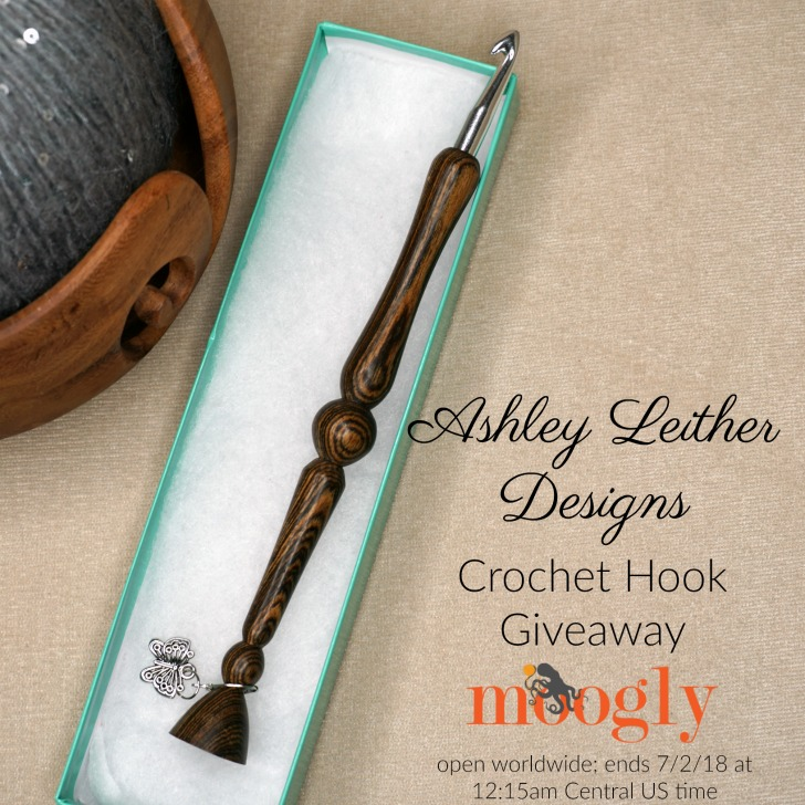 Ashley Leither Designs Handcrafted Crochet Hook Giveaway on Moogly! Open worldwide, ends 7/2/18 at 12:15am Central US time