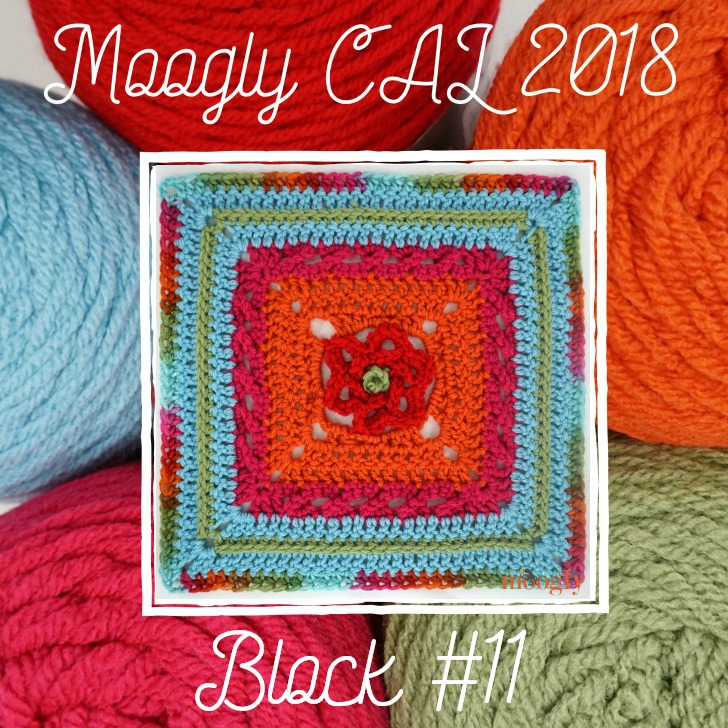 MooglyCAL2018: Block #11, courtesy of Stitches n Scraps