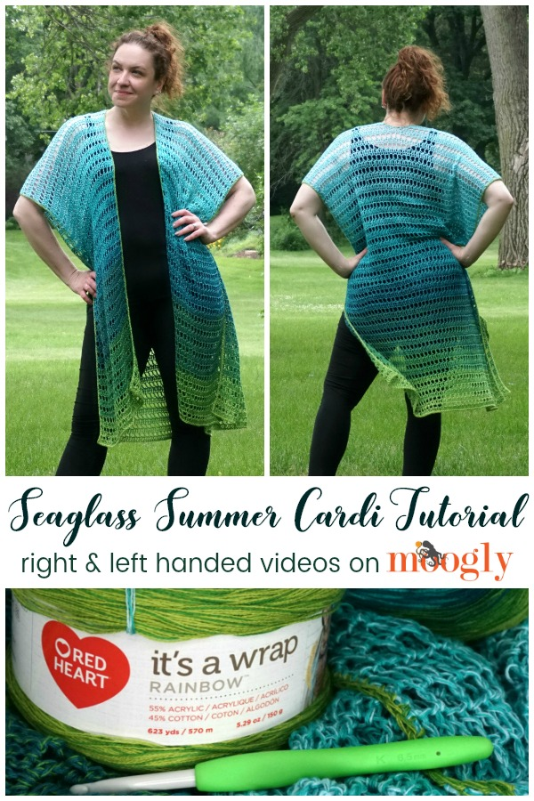 Seaglass Summer Cardi Tutorial Videos on Moogly