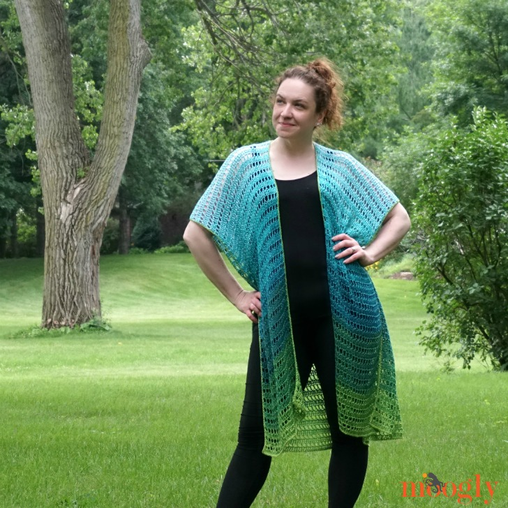Seaglass Summer Cardi - front view 2