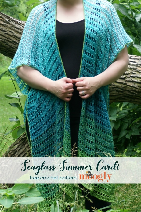 Seaglass Summer Cardi - free crochet pattern on Moogly