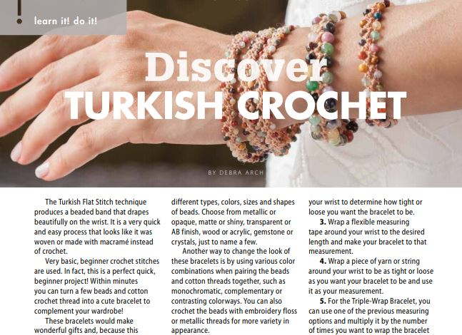Turkish Crochet Article in Crochet! Magazine, Summer 2018