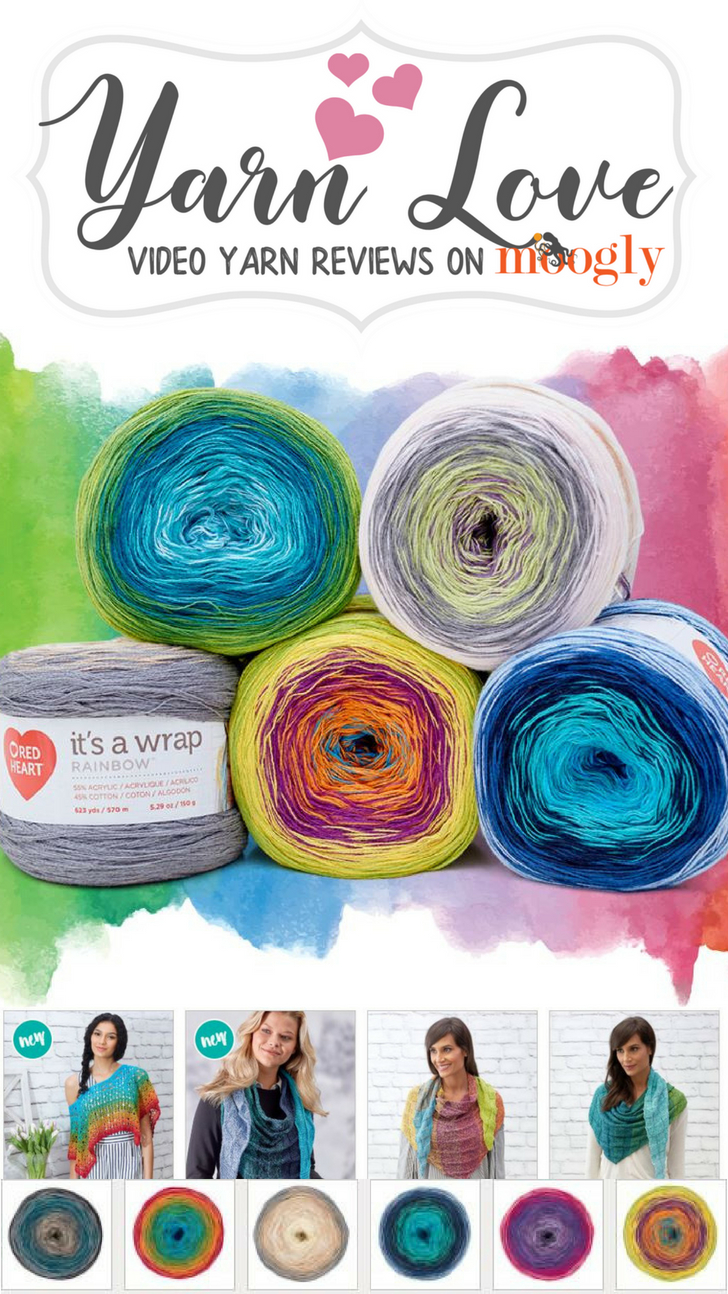 Yarn Love: Watch a video review and get the scoop (and free pattern!) for Red Heart It's a Wrap Rainbow - on Moogly!