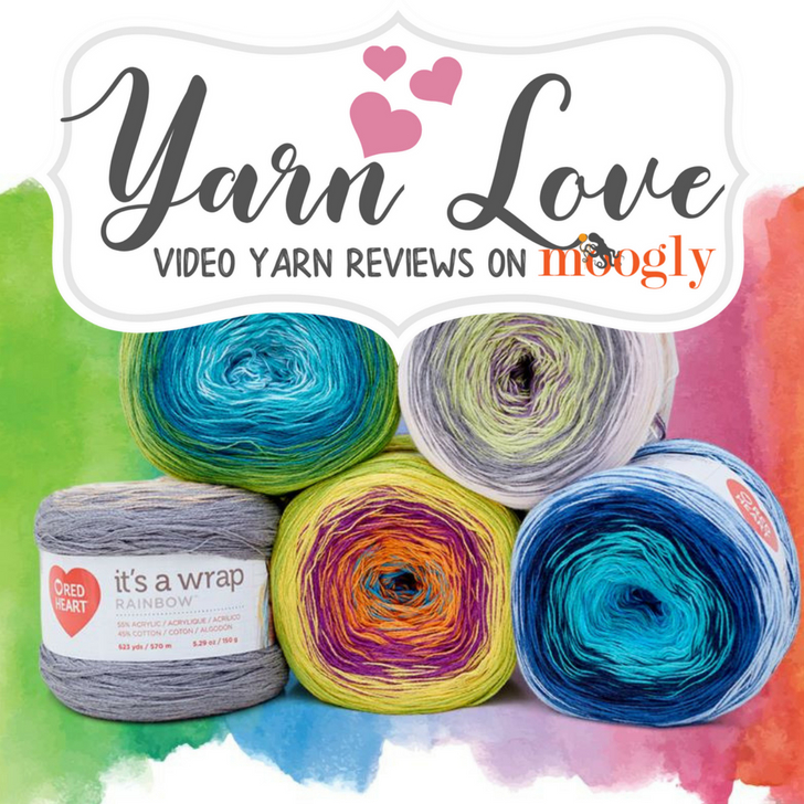 Yarn Love Red Heart Its A Wrap Rainbow Moogly