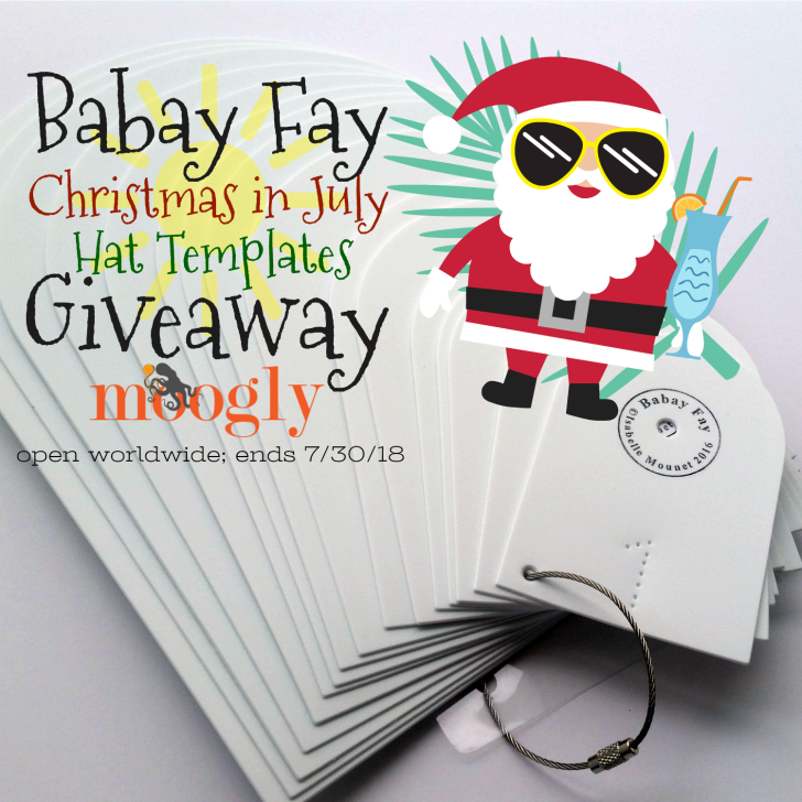 Babay Fay Christmas in July Hat Templates Giveaway on Moogly