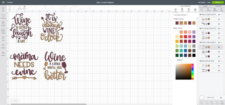 Cricut Design Space - set up your designs before you cut