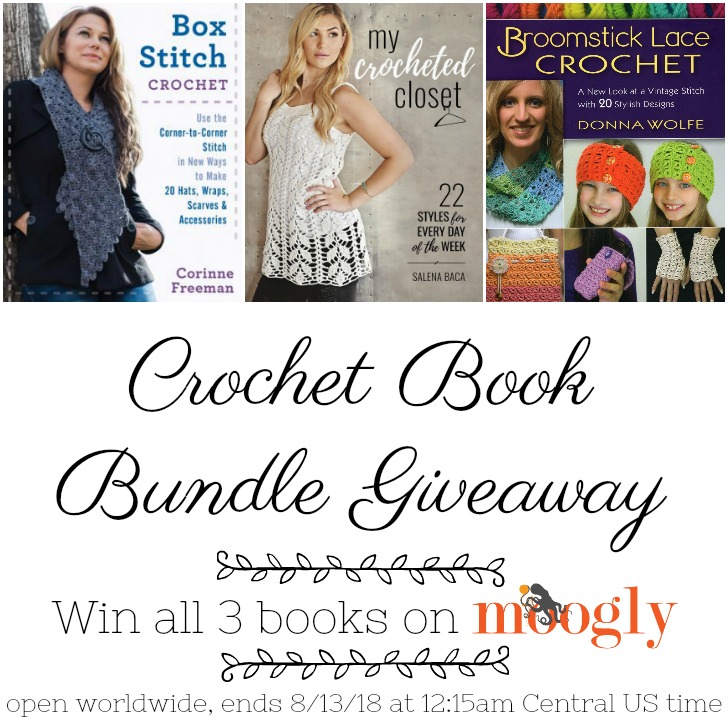 Crochet Book Bundle Giveaway on Moogly - open worldwide, ends 8/13/18