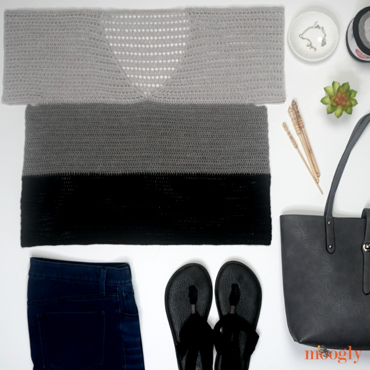 Easy Cold-Shoulder V-Neck Top - fashion flat lay