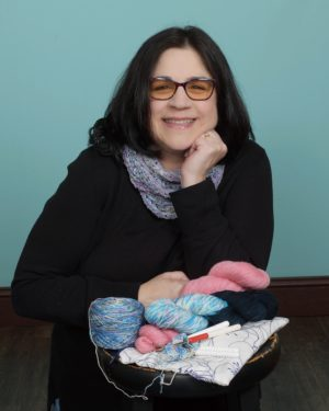 Karen Whooley, award winning crochet designer and author of Coastal Crochet