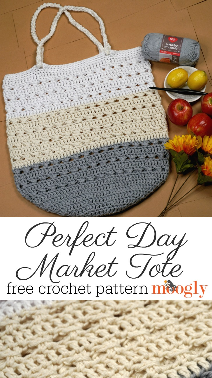 Perfect Day Market Tote Bag Pattern on Moogly