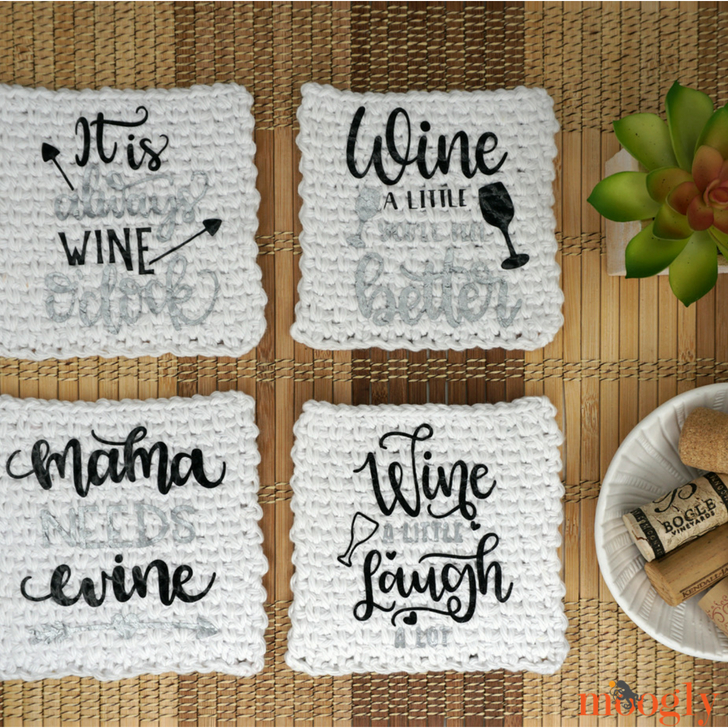 Quick Cricut Craft: Crochet Cocktail Napkins