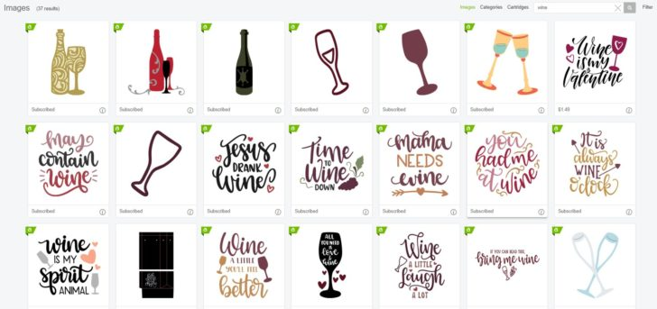 Get the perfect wine themed cut files on Cricut Access