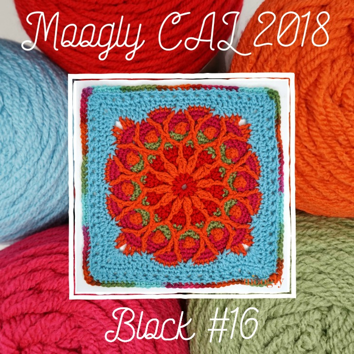 Block 16 of the Moogly CAL 2018 - by Pattern Paradise!