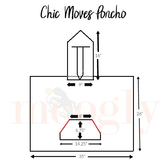 Chic Moves Poncho Schematic - free crochet pattern on Mooglyblog.com