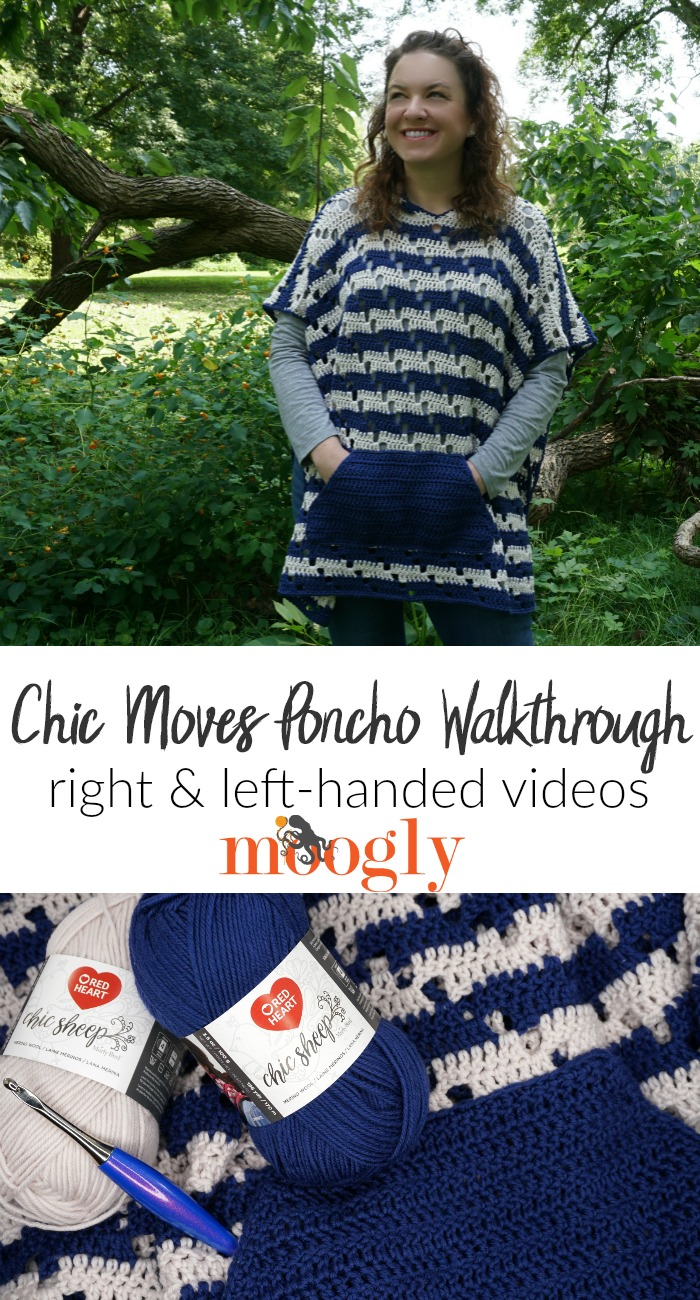 Chic Moves Poncho Walkthrough - make this free crochet pattern with Moogly!