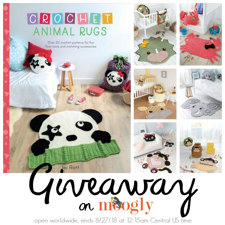 Crochet Animal Rugs giveaway on Moogly