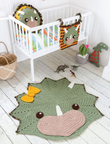 Crocheted Animal Rugs by Ira Rott - Dinosaurs!