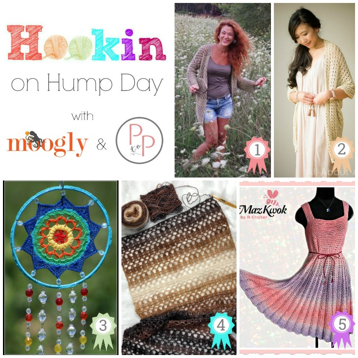 Hookin on Hump Day #173 - 5 amazing patterns from 5 fantastic designers! Get them all on Moogly and Petals to Picots!