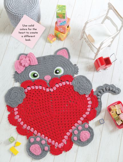Crocheted Animal Rugs by Ira Rott - Sassy Kitty, Look 2
