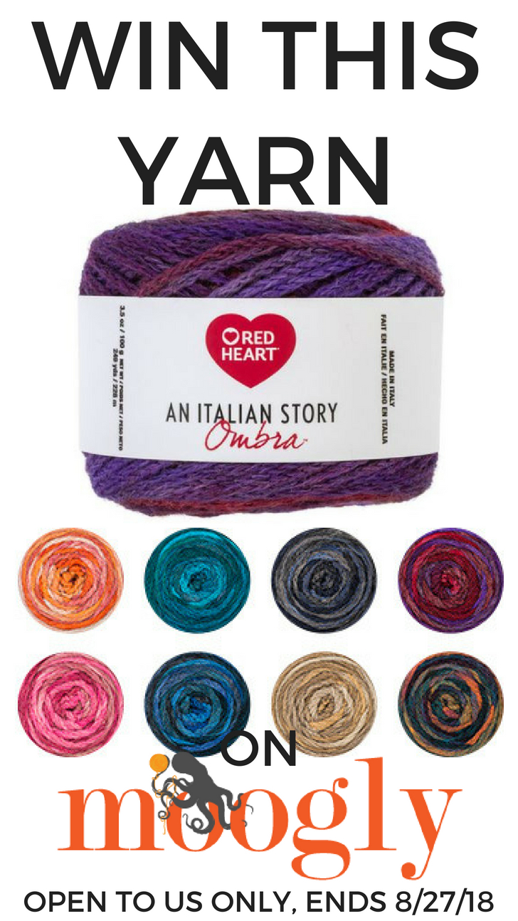 Red Heart An Italian Story Ombra - win 4 cakes of this gorgeous yarn on Moogly! Open to US addresses, ends 8/27/10 at 12:15am Central US time