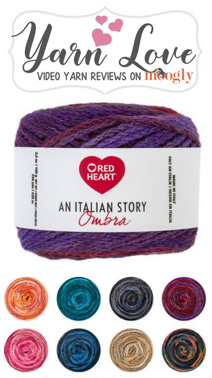 Red Heart An Italian Story Ombra - learn more about this unique yarn on Moogly!