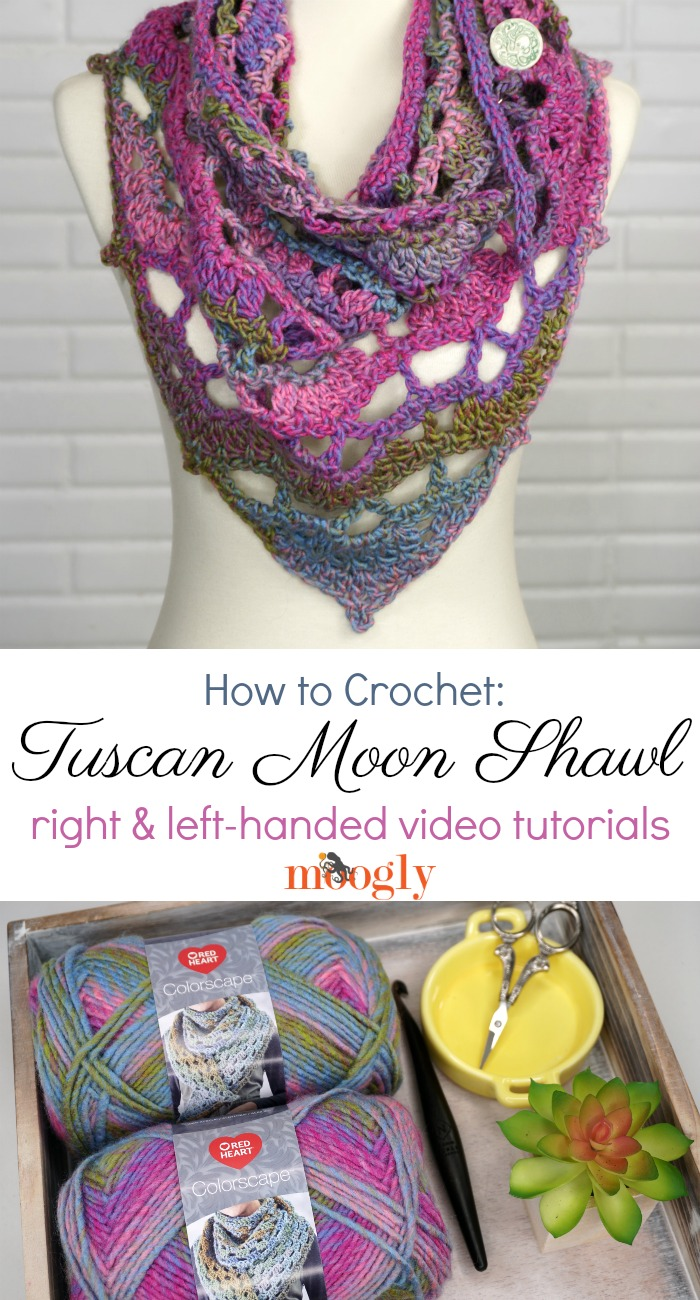How to Crochet the Tuscan Moon Shawl