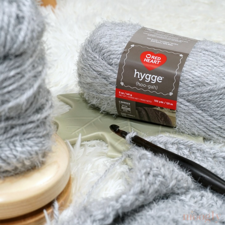 Red Heart Hygge - sweater in progress