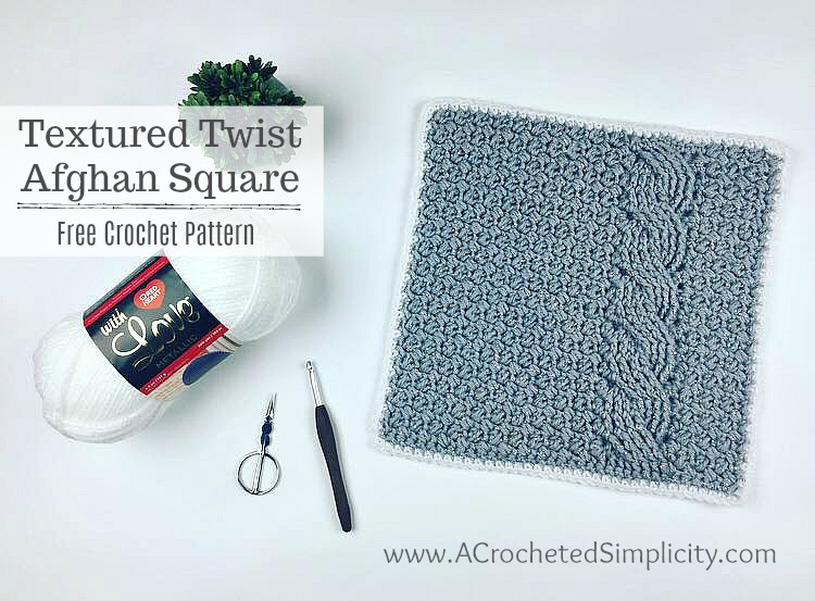 Textured Twist Afghan Square