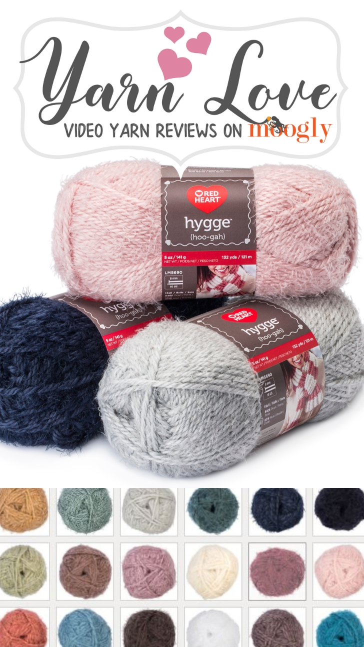 Red Heart Hygge - take a closer look at this gorgeous new yarn on Moogly!
