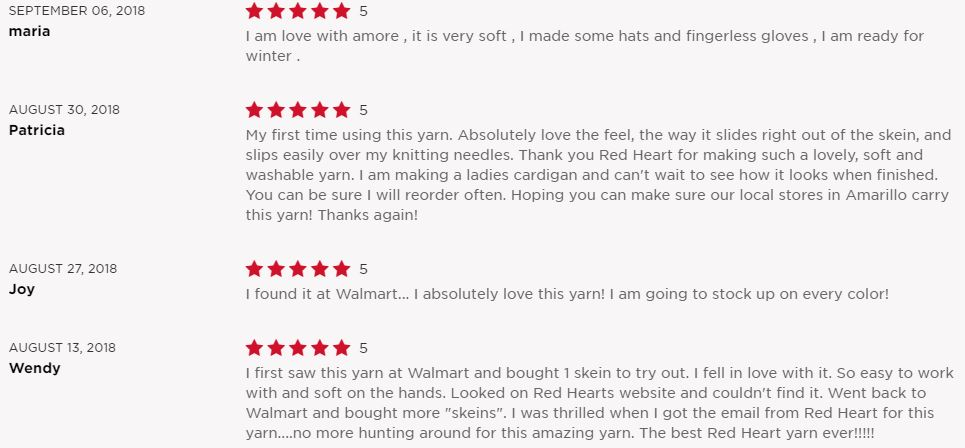 Red Heart Amore - reviews
