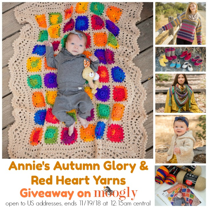 Annie's Autumn Glory and Red Heart Yarns Giveaway on Moogly