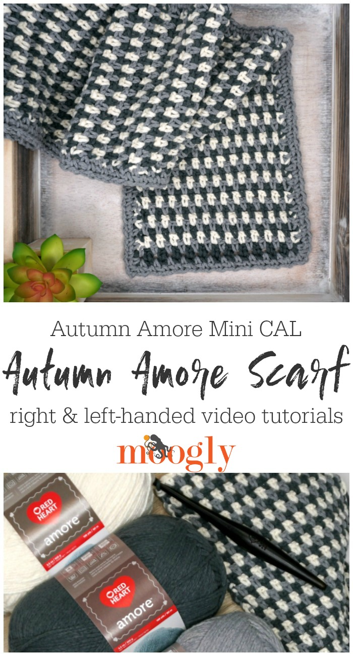 Autumn Amore Scarf Tutorial PIN