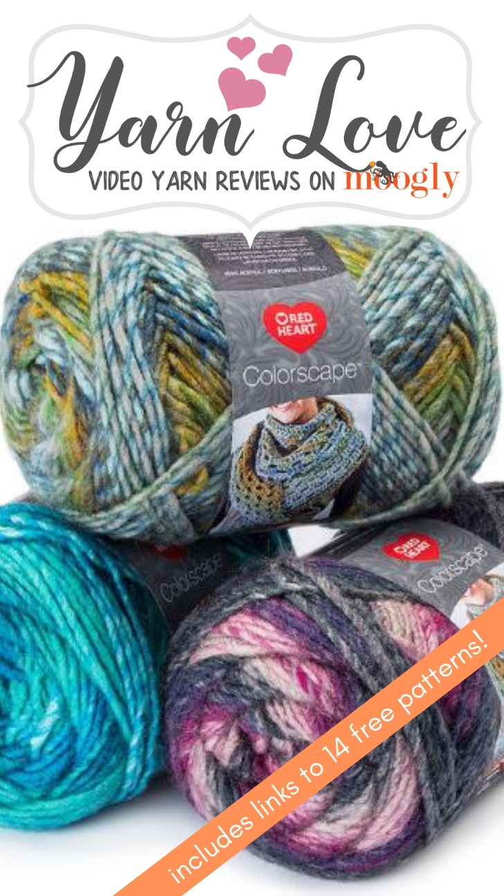 Yarn Love: Red Heart Colorscape - read all about this yarn on Moogly and get links to 14 free patterns!