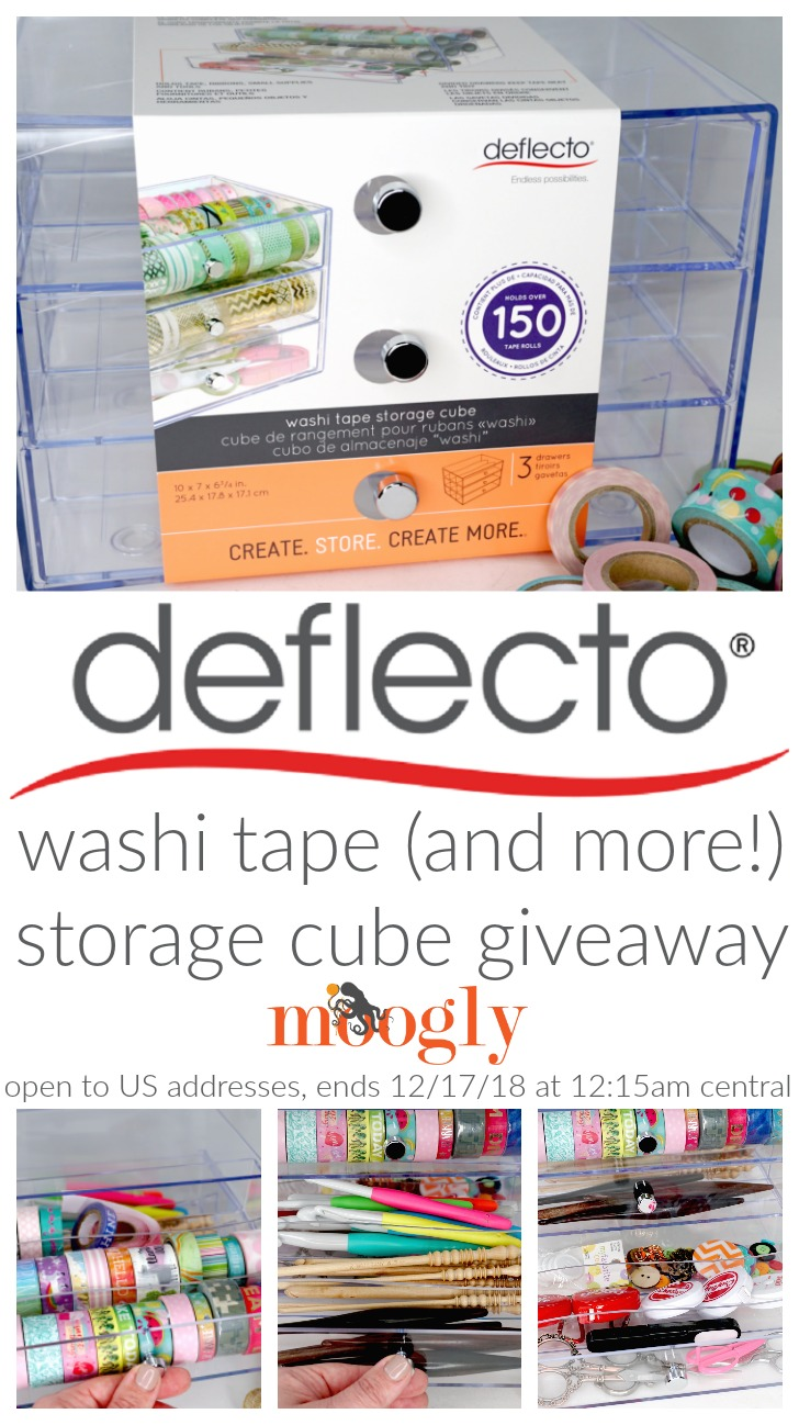 Deflecto Washi Tape (and More!) Storage Cube Giveaway on Moogly!