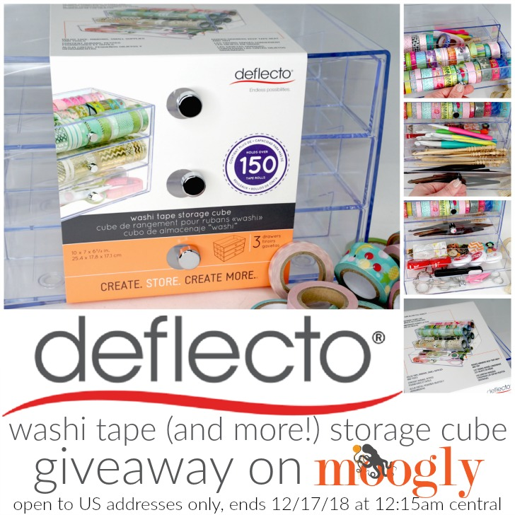 Deflecto Washi Tape (and More!) Storage Cube Giveaway on Moogly! open to US addresses only!
