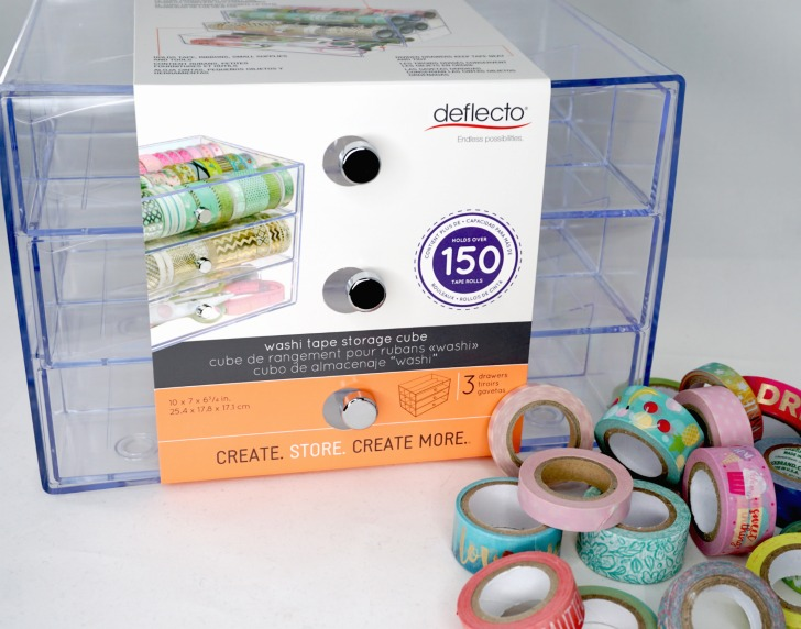 Deflecto Washi Tape (and More!) Storage Cube Giveaway - box unopened