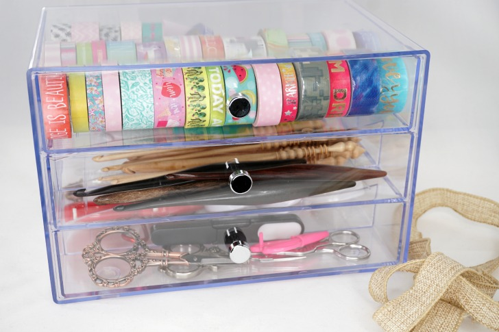 Deflecto Washi Tape (and More!) Storage Cube Giveaway - filled, closed