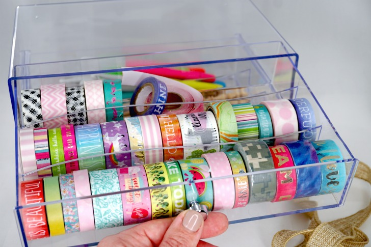 Deflecto Washi Tape (and More!) Storage Cube Giveaway - washi drawer