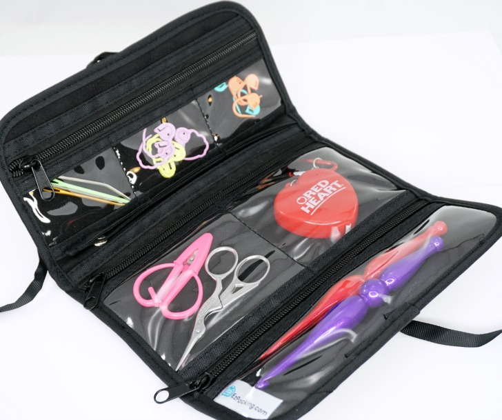 EzPacking Travel Jewelry Roll with Crochet Tools