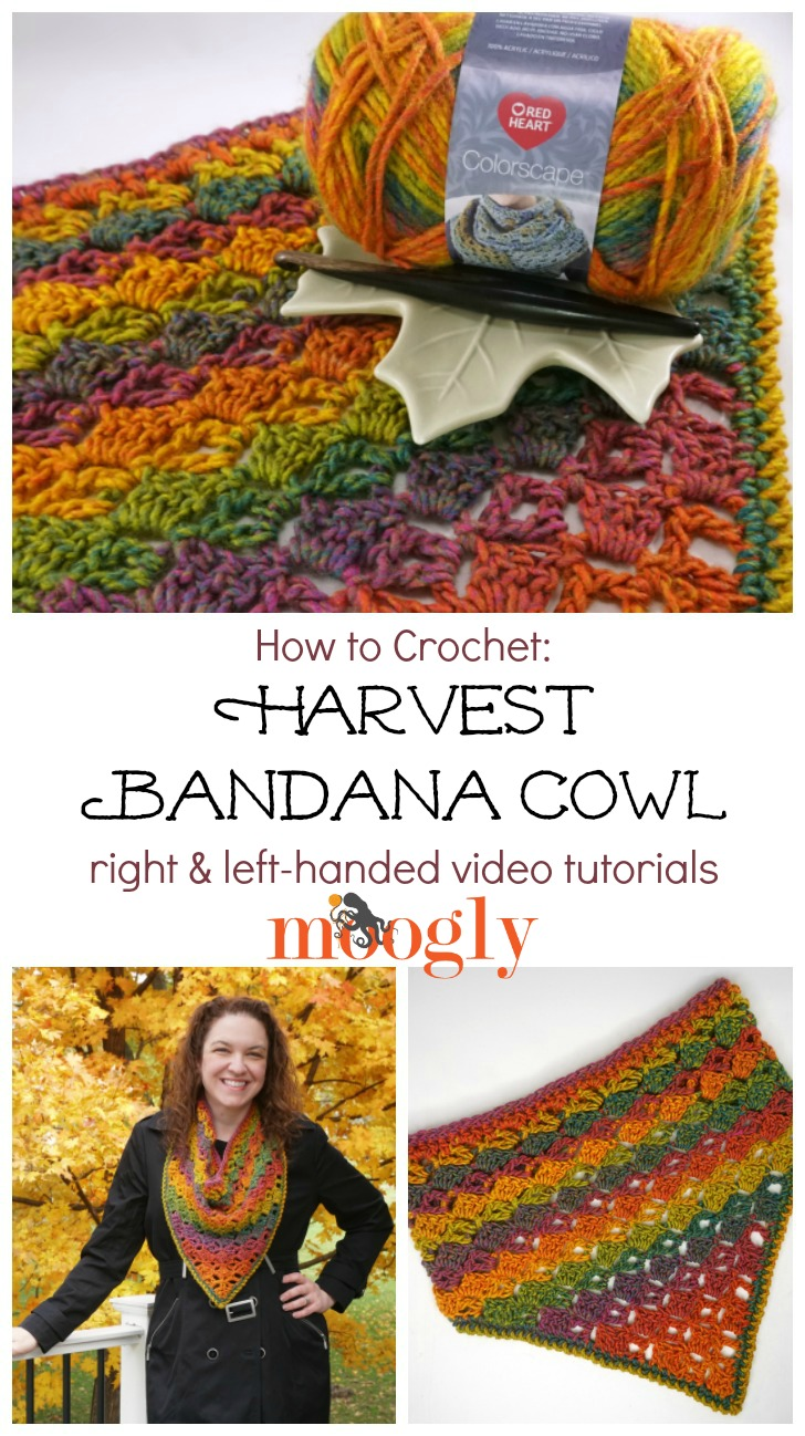 Harvest Bandana Cowl Tutorial PINSTA
