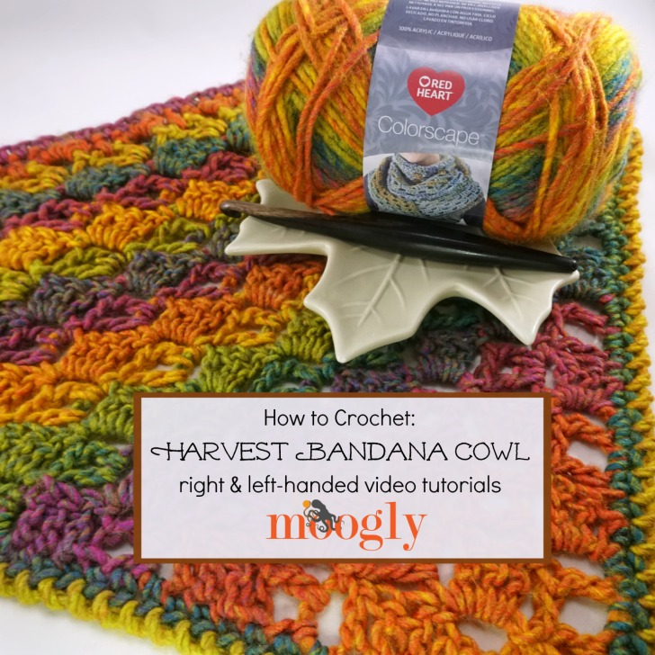 Harvest Bandana Cowl Tutorial Right Left Handed On Moogly