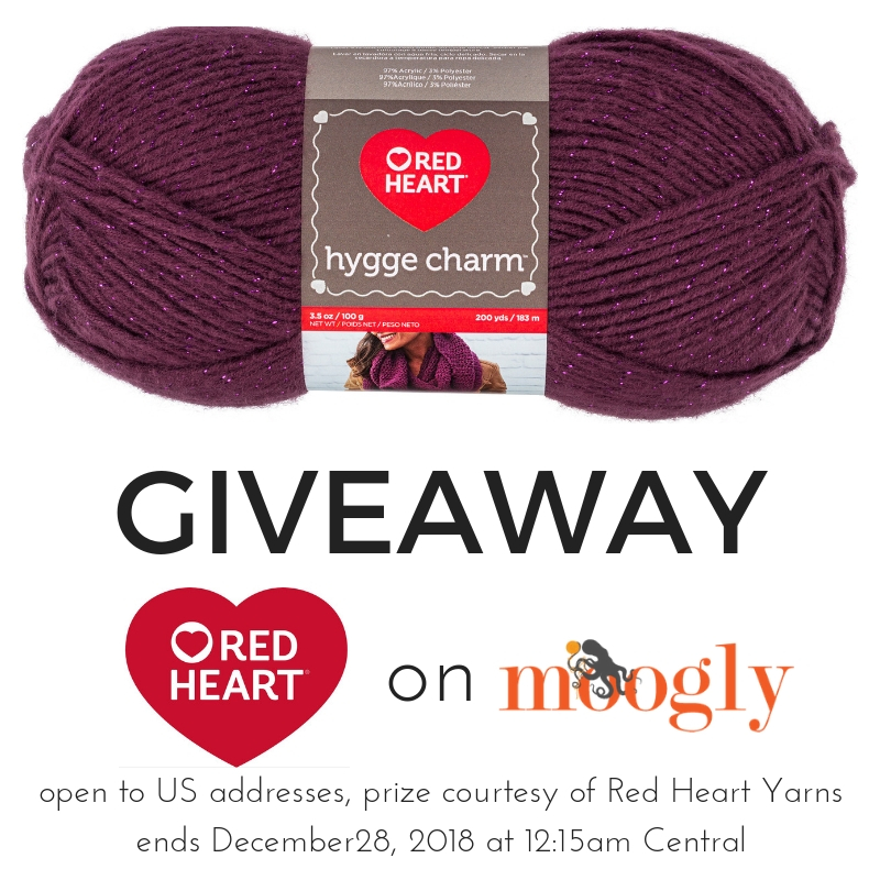 Red Heart Hygge Charm Giveaway on Moogly!