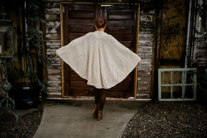 Snow Charming Cape by Tamara Kelly - back view