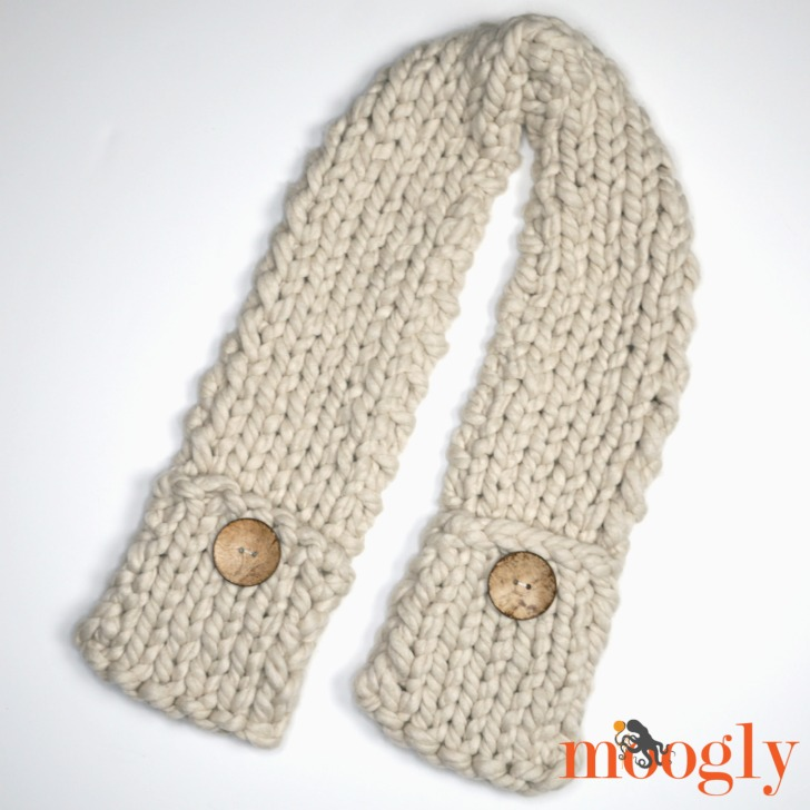 Big Fast Pocket Scarf Free Knitting Pattern On Moogly