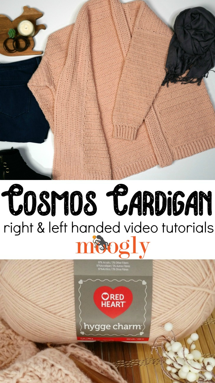 Cosmos Cardigan Tutorial - free on Moogly!