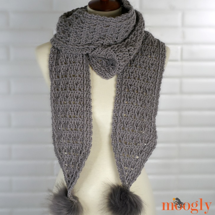 Final Frost Scarf - free crochet pattern on Moogly