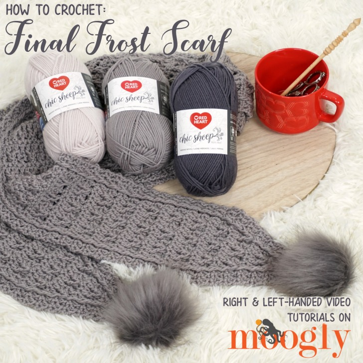 Final Frost Scarf Tutorial: Right & Left-Handed - Moogly