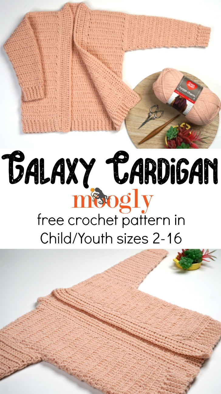Galaxy Cardigan Tutorial on Mooglyblog - long pin image