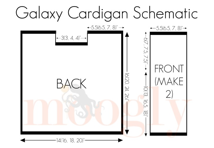 Galaxy Cardigan Schematic on Moogly