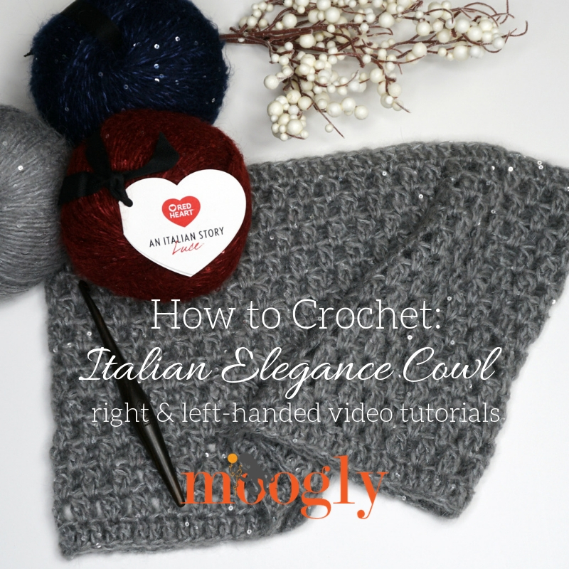 Italian Elegance Cowl Tutorial on Moogly